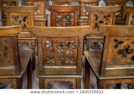 стульев различный собора острове Греция Сток-фото © franky242