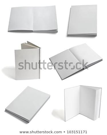 Stockfoto: Open · boek · witte · helling