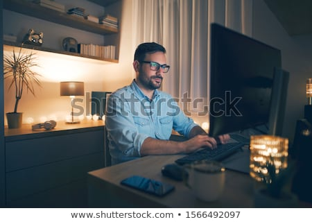 office work at night stock photo © adam121