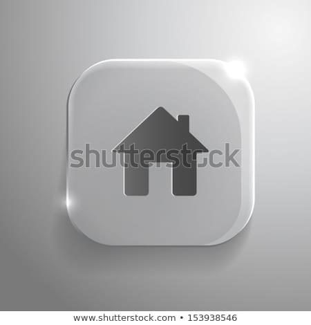Soyut parlak ev ikon ışık teknoloji Stok fotoğraf © rioillustrator