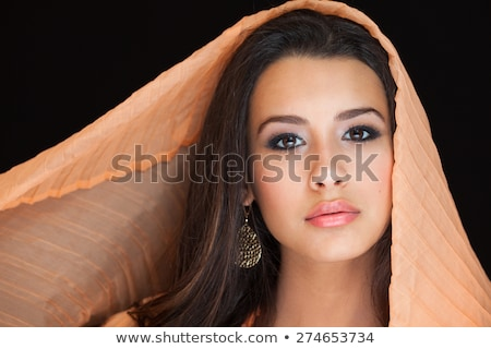 Indian Woman Colorful Shawl Stock photo © lisafx