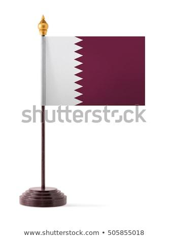 Minyatür bayrak Katar yalıtılmış toplantı Stok fotoğraf © bosphorus