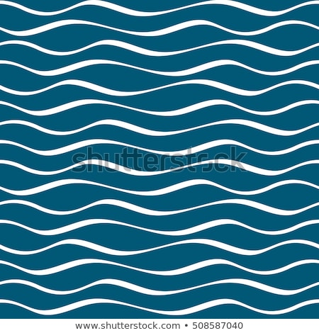 Stok fotoğraf: Vector Seamless Ocean Waves Pattern