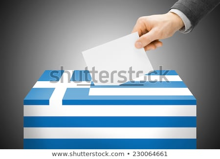vote poll ballot box for greece, greek elections Stock photo © experimental