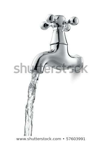 Water flowing from the faucet against Stock photo © ozaiachin