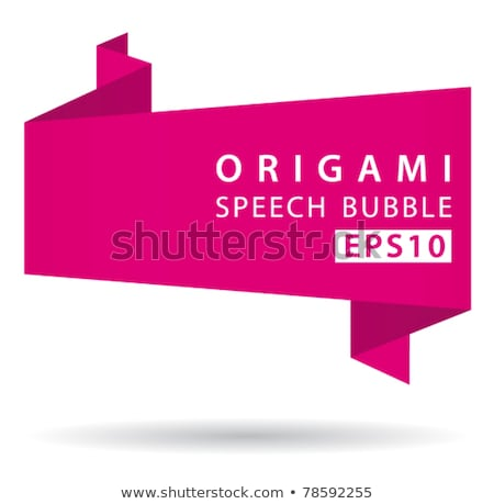 Abstract origami speech bubble vector background Stock photo © place4design