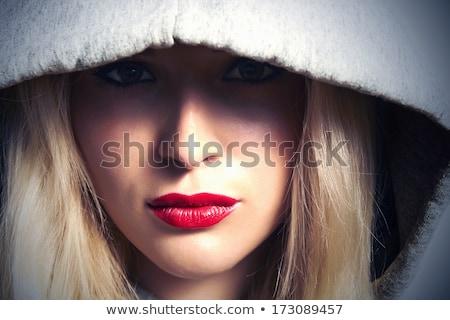 mulher · loira · moda · luz · lábios · jovem - foto stock © photography33