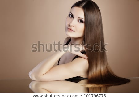 Portrait of Stylish Woman  with Long Brown Straight Hair Stock photo © gromovataya