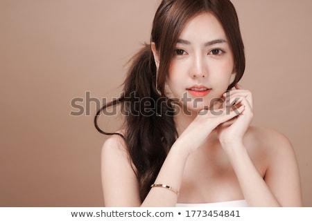 belo · topless · asiático · mulher · sensual · braço - foto stock © stryjek