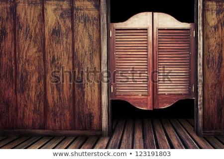 door of old western building Stock photo © Witthaya