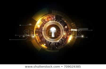 key hole background vector stock photo © pixxart