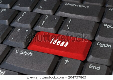 Computer buttons in write word 'idea' Stock photo © shutswis