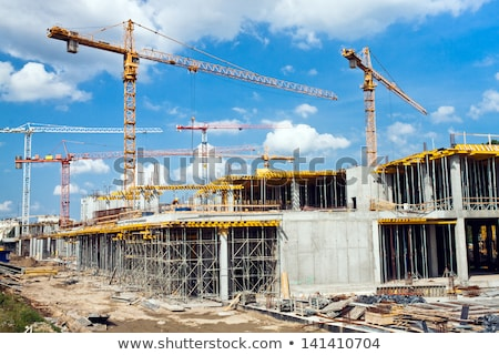 Building under Construction against Blue Sky Stock photo © maxpro