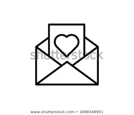 Love letter icon. Illustration on white background Stock photo © Luppload