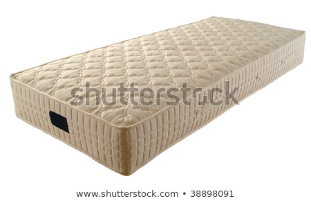 single new mattress isolated over white background stock photo © shutswis