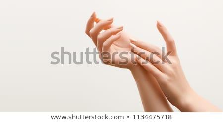 piękna · kobiet · ręce · manicure · manicure · francuski - zdjęcia stock © vlad_star