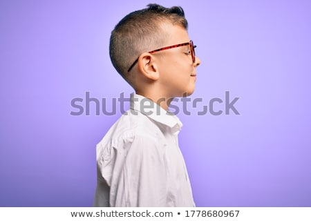 portré · aranyos · fiatal · srác · áll · fehér · gyermek - stock fotó © wavebreak_media