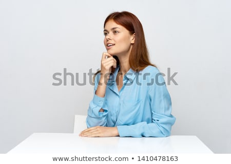 casual woman looks away form camera Stock photo © feedough