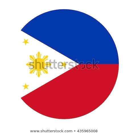 üveg gomb zászló Fülöp-szigetek piros íj Stock fotó © maxmitzu