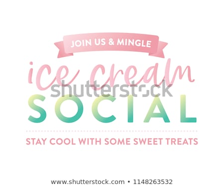 ice cream social stock photo © artplay