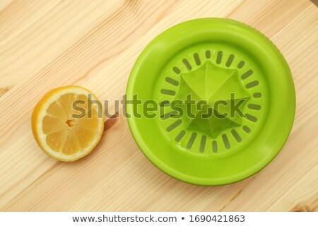 Wooden Lemon Juicer stock photo © raptorcaptor
