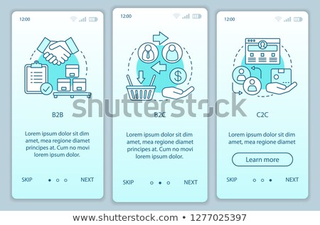 B2C - Business Concept. Stock photo © tashatuvango