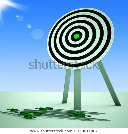 Arrows On Floor Shows Ineffective Targeting Stock photo © stuartmiles