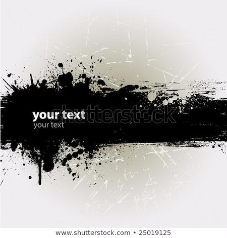 Grunge banner dribbelen abstract achtergrond Blauw Stockfoto © alexmillos
