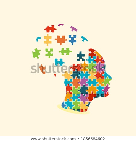 Psychological Concept on Multicolor Puzzle. Stock photo © tashatuvango