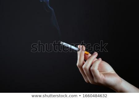 mannelijke · hand · sigaret · witte · gezondheid - stockfoto © ocusfocus