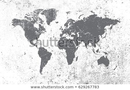 Grunge dünya vektör soyut toprak imzalamak Stok fotoğraf © burakowski