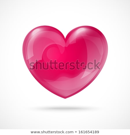 Roze 3D glas hart liefde abstract Stockfoto © tuulijumala