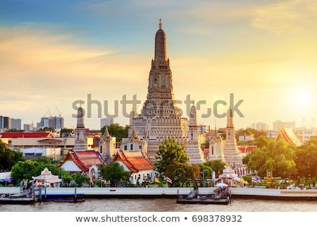 közelkép · részletek · templom · Thaiföld · víz · sziluett - stock fotó © weltreisendertj
