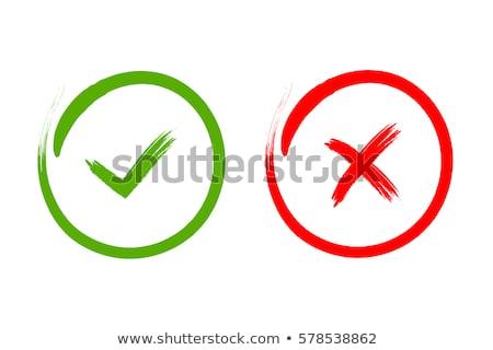 Yes and No Stamp Stock photo © burakowski