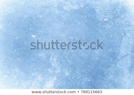 Piękna mroźny okno lodu krystalicznie wzór Zdjęcia stock © Anterovium