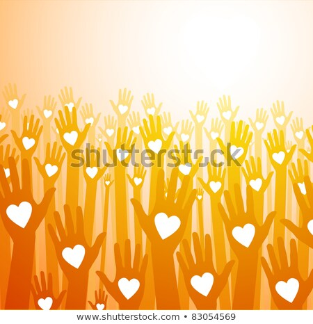 Stock photo: Charity Concept on Striped Background.