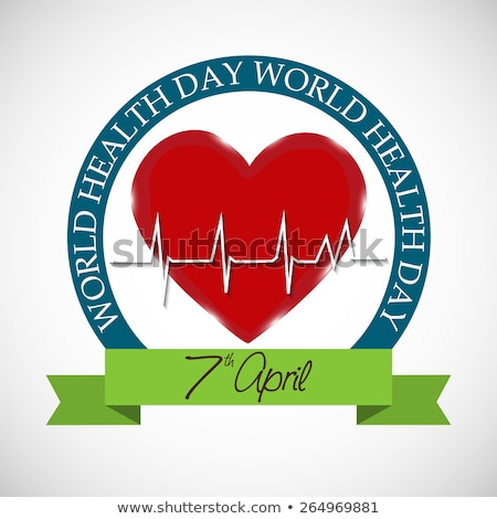 World health day medical concept with heart beats green colorful Stock photo © bharat