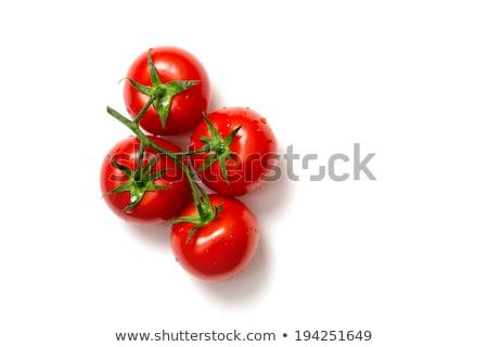 新鮮な · トマト · 水滴 · 孤立した · 白 · 食品 - ストックフォト © elisanth