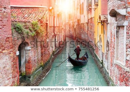 Hagyományos Velence gondola víz utazás fekete Stock fotó © Nejron