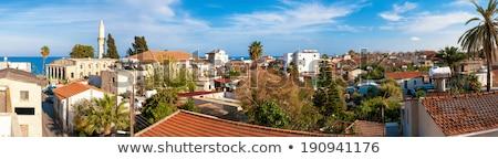 Cypr panorama starówka niebo drzewo budynku Zdjęcia stock © Kirill_M