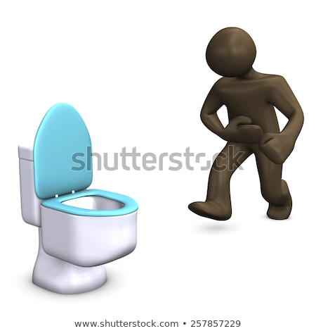 Stomach pain and running to toilet Stock photo © szefei