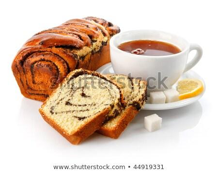 kubek · herbaty · kawałek · ciasto · żywności · śniadanie - zdjęcia stock © nalinratphi
