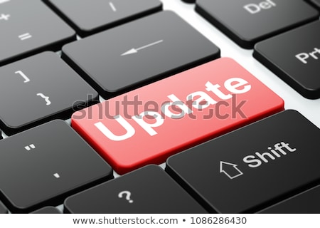 Stock photo: Update on Red Keyboard Button.