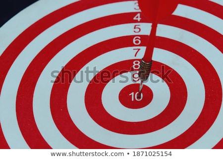 Közgazdaságtan nyilak piros osztályzat cél három Stock fotó © tashatuvango