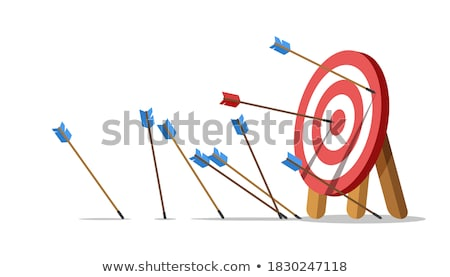 Training - Arrows Hit in Red Mark Target. Stock photo © tashatuvango