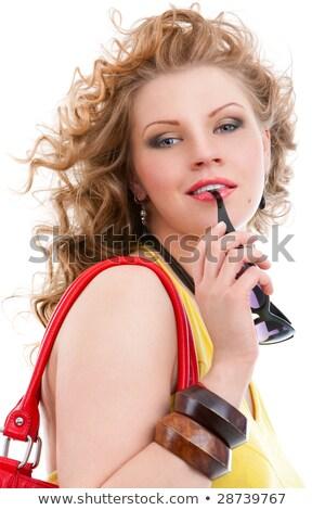 ansioso · persone · ritratto · ragazza · mordere · labbra - foto d'archivio © konradbak