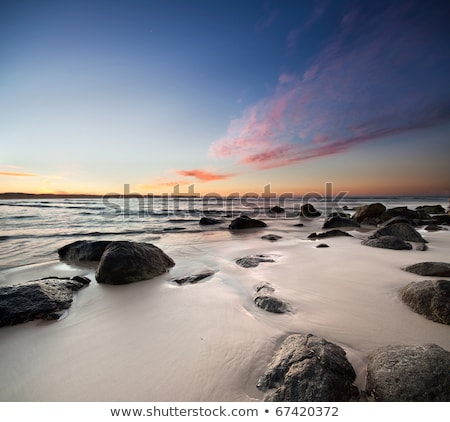 Remote Rocks and Beach on the Ocean Stock photo © wildnerdpix
