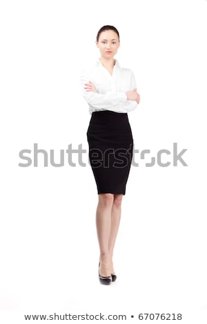 Blond Woman in Fashionable Black Office Attire Stock photo © dash