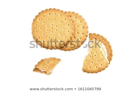 сэндвич · Печенье · шоколадом · заполнение · белый · сломанной - Сток-фото © homydesign