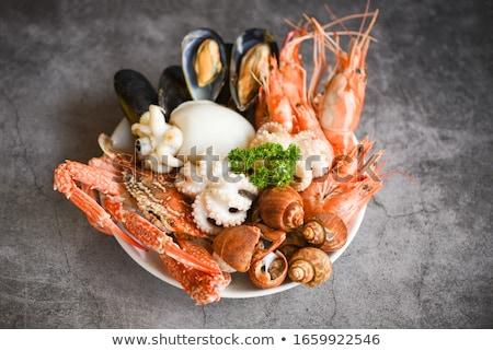 Schelpdier voedsel achtergrond zeevruchten keuken Stockfoto © M-studio